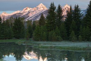 Snow-capped Grand Tetons, Jackson Hole, Wyoming