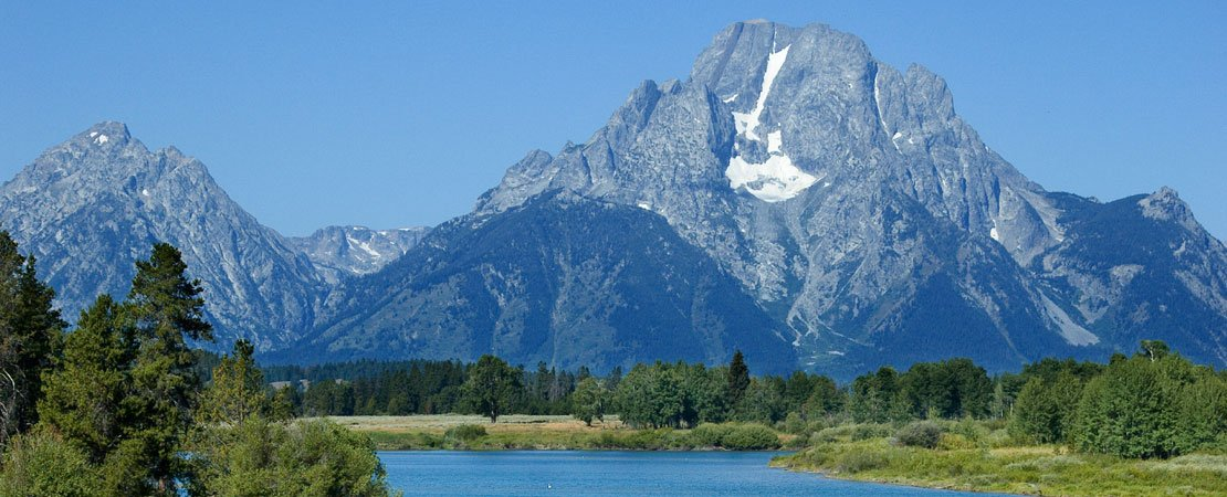 Mount Moran and the Oxbows in Grand Teton National Park, Jackson Hole, Wyoming