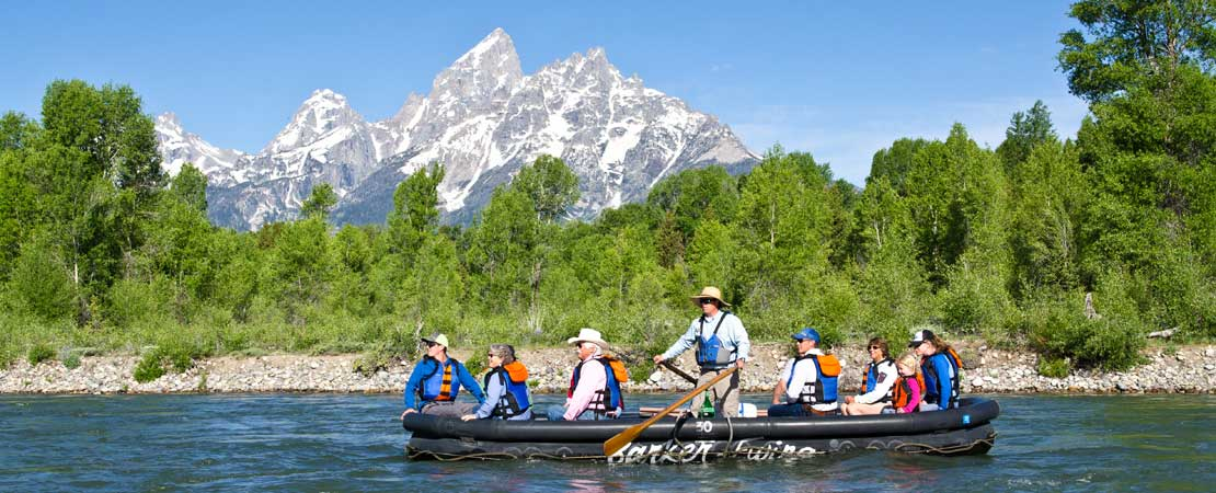Enjoying a Barker-Ewing Scenic Float Trip on the Snake River in Grand Teton National Park